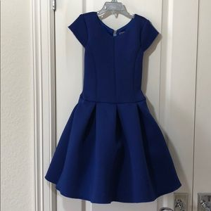 Zoe LTD blue neoprene dress 8/10